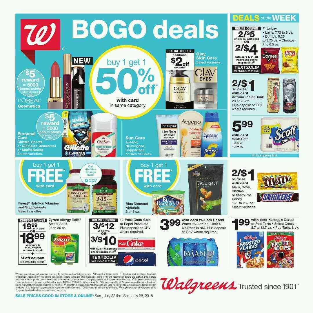 offers walgreens 22-7-2018